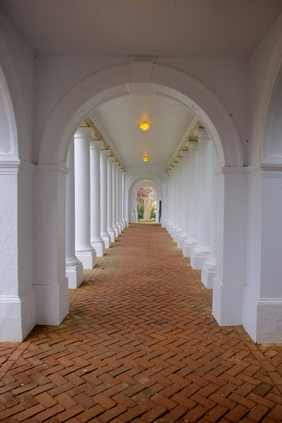 Walkway near the Rotunda -- University of Virginia