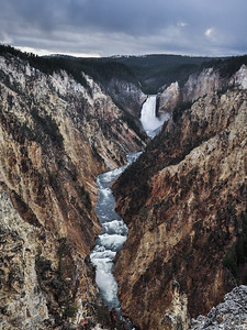 Yellowstone Lower Falls & Grand Canyon from Artist Point