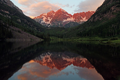 Maroon Bells-Snowmass Wilderness Area.  White River National Forest, Colorado