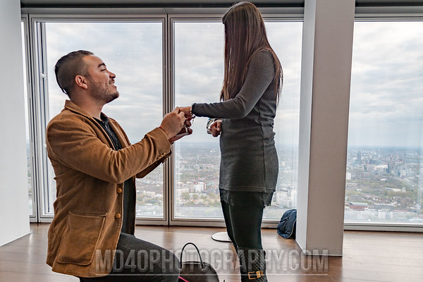 On bended knee... Will you marry me?
