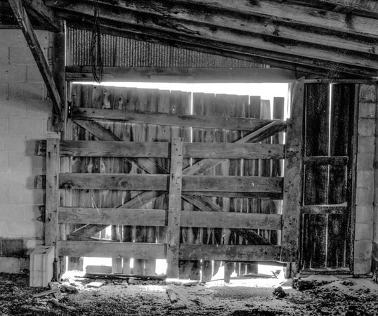 Inside The Barn Door