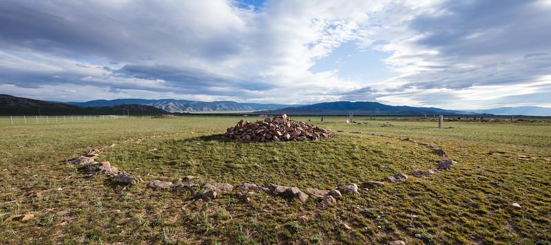 Mongolian stone circle