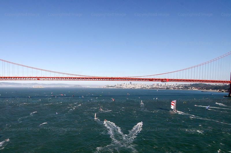 "Sailing Photos St Francis Yacht Club 18"" Skiffs Bridge to Bridge"