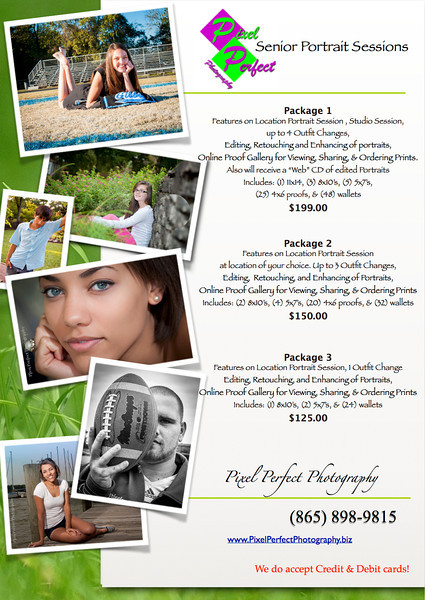 Senior Portrait Specials