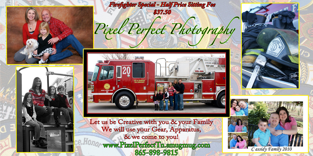 WE ARE OFFERING A  50% DISCOUNT ON OUR PHOTOGRAPHY SESSIONS TO ALL FIREFIGHTERS, EMS WORKERS,  & POLICE OFFICERS.