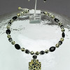 "#09109 <br>Damation jasper, black onyx, glass pearls and pewter <br>with silver plated clasp and 4"" extender chain.<br>Alice Bailey Designs signature tag.<br>Necklace 16"" to 20"" Limited Edition Originally $69.00  Now $39.00<br>Earrings Originally $25.00 Now $15.00"
