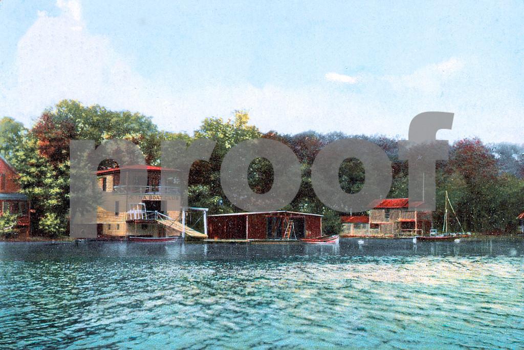 """""""Noted Boat Clubs along the Lake"""", Orange Lake, Newburgh, NY"""