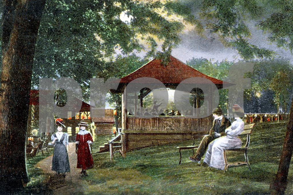 Band Stand, Orange Lake Park, by moonlight, Newburgh, NY