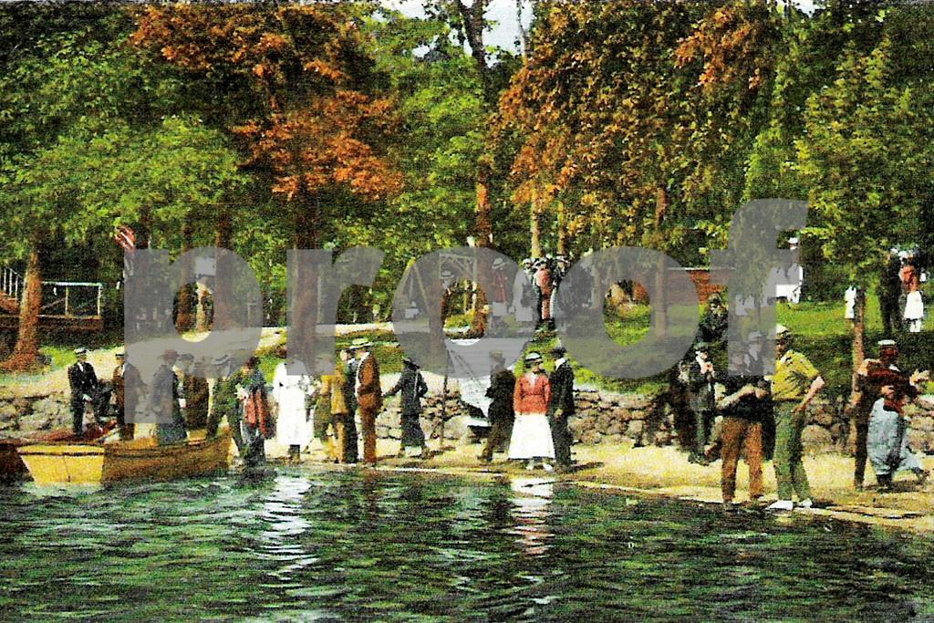 Visitors Waiting For Row Boats, Orange Lake Park, Newburgh, NY