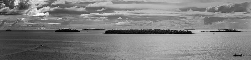 Islands in the Tonga waters, panorama