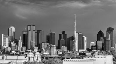Downtown Dallas in B&W
