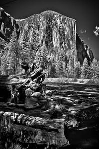 El Capitan  in infrared #4, Yosemite