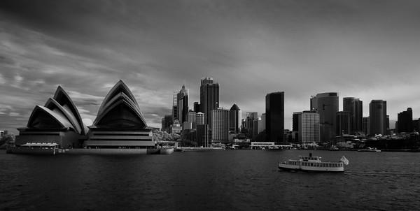 Sydney Opera House, B&W