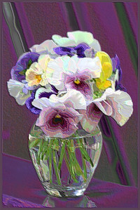 F-V-0089-13 Pansy Bouquet Soft Plastic