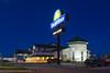 The Days Inn at dusk in Winkler, Manitoba, Canada.