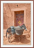 A doorway with donkey in the Ait Bennhaddou Casbah near Ourzazate, Morocco.