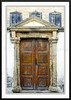 An old wooden door on the island of Patmos, Greece.
