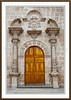 The church door and facade of the San Augustin Church in Arequipa, Peru, South America.