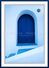 A blue door in Thira, Santorini, Greek Island, Greece.