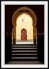 Interior decor and architecture of the Moulay Ismail Mosque in Meknes, Morocco.