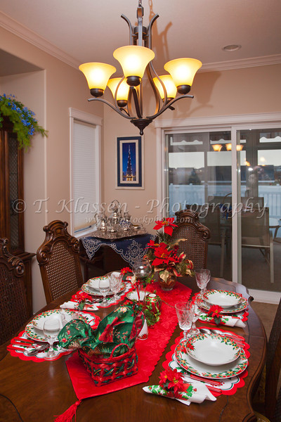 Christmas table setting 2011.
