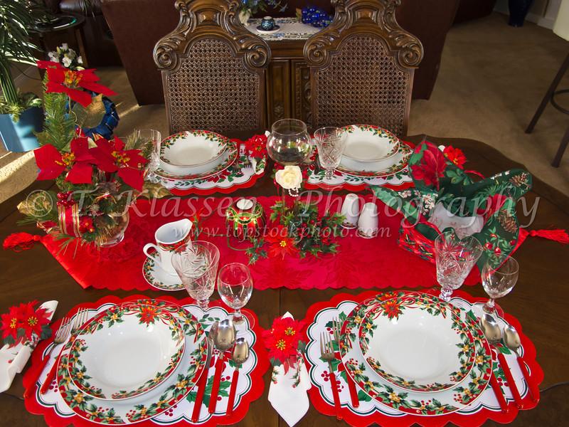 Christmas table setting 2011.