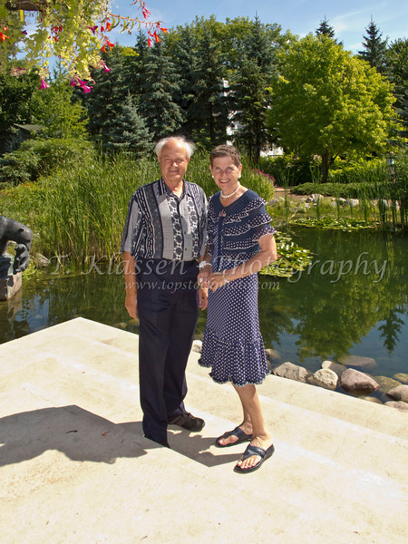 Esther Anne and Terry at the Leo Mol Gardens in Winnipeg.