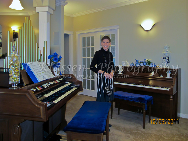 The piano and organ in our Winkler home.