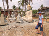 The stone carving village of Santok, Cambodia, Asia.