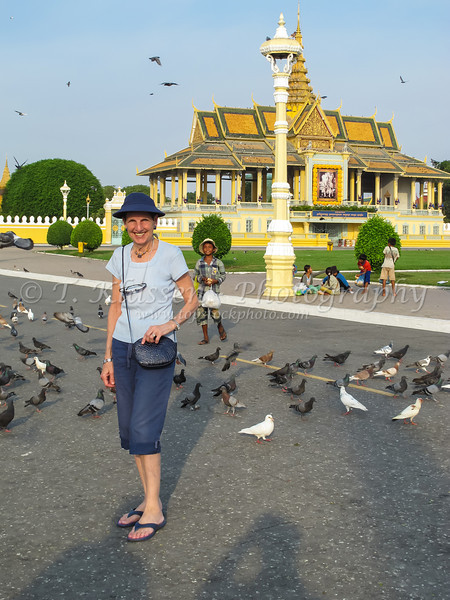 Pagoda architecture of the Royal Palace in Phnom Penh, Cambodia, Asia.