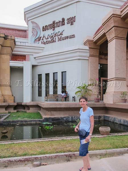 Exterior of the Angkor National Museum near Siem Reap, Cambodia, Asia.