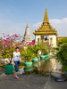 Stuppas and shrines of the Silver Pagoda in Phnom Penh, Cambodia, Asia.