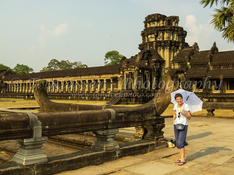 The ruins and temples at Angkor Wat near Siem Reap, Cambodia, Asia.