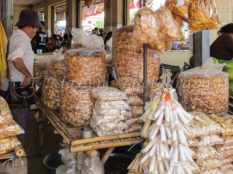 The village and insect market in Skoun, Cambodia, Asia.