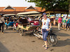 "A street scene with ""cyclos"" in Siem Reap, Cambodia, Asia."