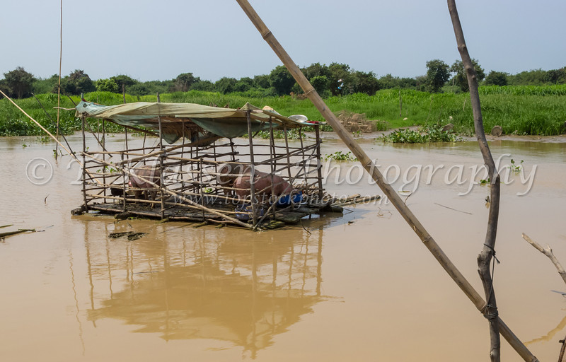The floating village on Tonle Sap or Great Lake in central Cambodia, Asia.