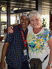 Our Gate 1 tour guide Hoy Pheakdey with participant Grace Jackson Beacum in Siem Reap, Cambodia, Asia.