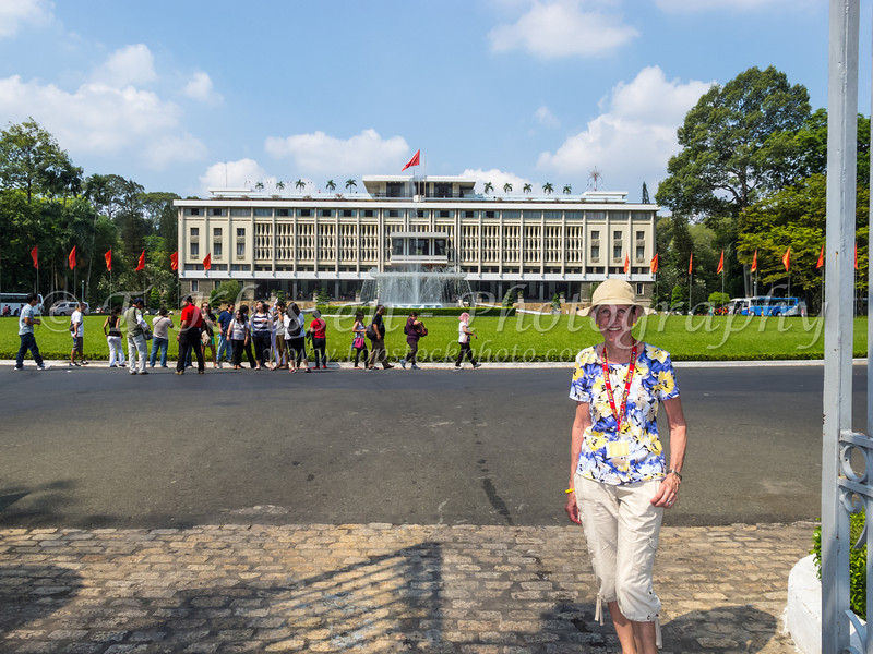 The Independance Unification Palace in Ho Chi Minh City, Saigon, Vietnam, Asia.