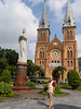 The Notre Dame Cathedral church in Saigon, Vietnam, Asia.