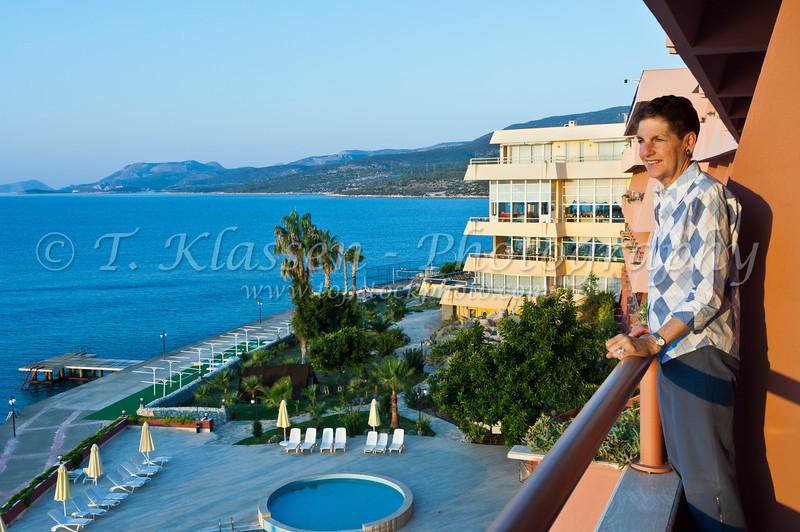 The pool area of the Best Resort Hotel in Tusucu, Turkey, Eurasia.