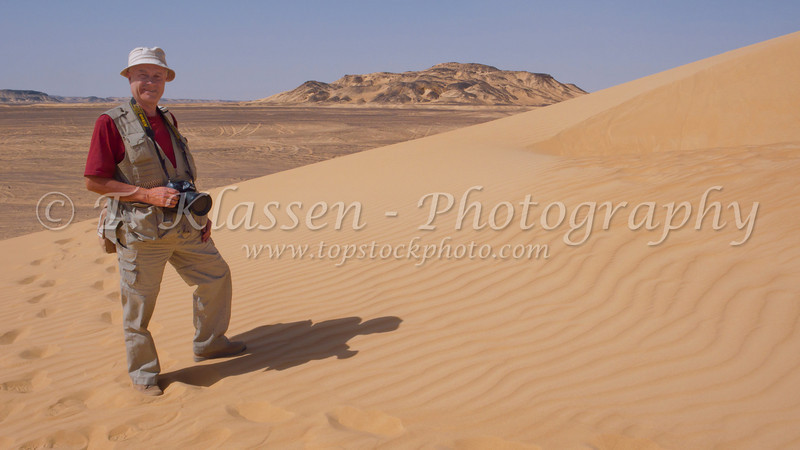 In the sand dunes of the Bahariya Oasis, Egypt.
