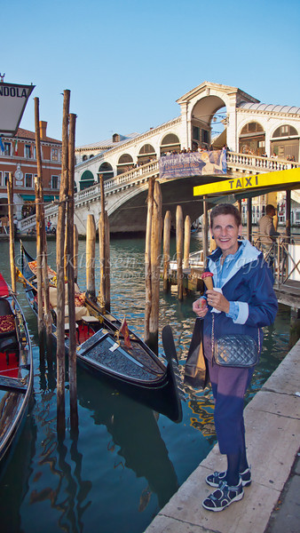 Along the Grand Canal in Venice, Italy.