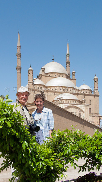 At the Alabaster Mosque in Cairo, Egypt.
