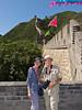At the Great Wall of China near Beijing, China.