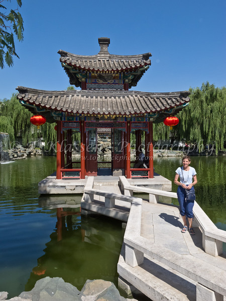 Pagoda architecture in Grandview Park in Beijing, China.