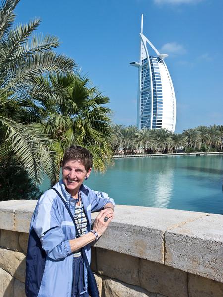The Burj el Arab off the coast of Dubai, United Arab Emirates.