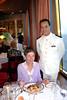 The head waiter on the Holland America Cruiseship Zaandam.