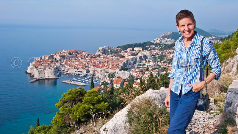 Overlooking Dubrovnik, Croatia.
