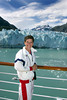 At the Margarie Glacier in Glacier Bay, Alaska.