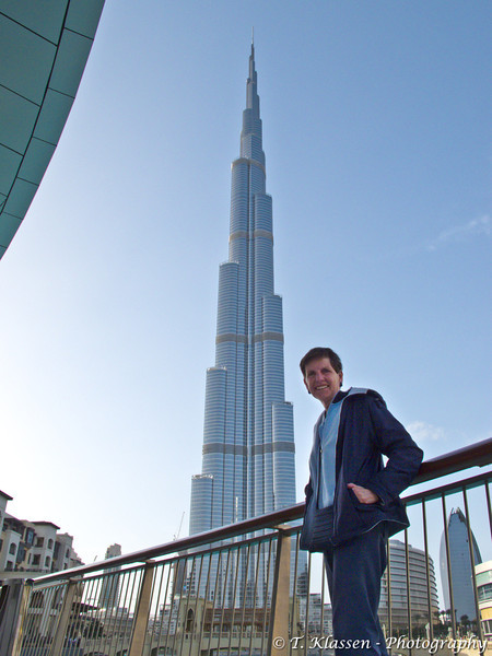 The Burj Khalifa in Dubai, UAE.